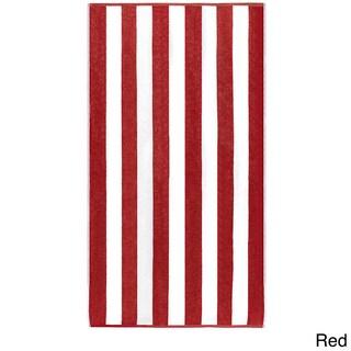 "Anatalya Classic Resort Cabana Stripe 40""x70"" Egyptian Cotton Beach Towel (Set of 2) - 40 x 70"