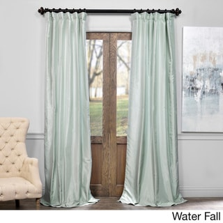 Exclusive Fabrics Vintage Textured Faux Dupioni Silk Curtain