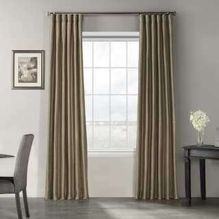 Link to Exclusive Fabrics Vintage Textured Faux Dupioni Silk Curtain Panel Similar Items in Curtains & Drapes