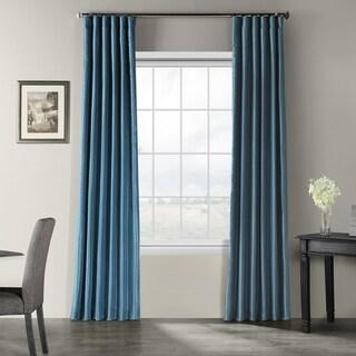 Exclusive Fabrics Vintage Textured Faux Dupioni Silk Curtain Panel