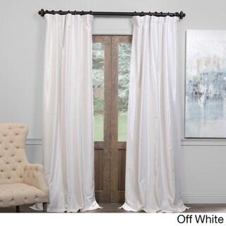 Exclusive Fabrics True Blackout Vintage Textured Faux Dupioni Silk Curtain
