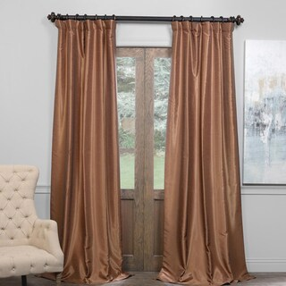 Exclusive Fabrics True Blackout Vintage Textured Faux Dupioni Silk Curtain (3 options available)