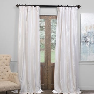 Exclusive Fabrics True Blackout Vintage Textured Faux Dupioni Silk Curtain