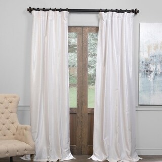 Exclusive Fabrics True Blackout Vintage Textured Faux Dupioni Silk Curtain (More options available)