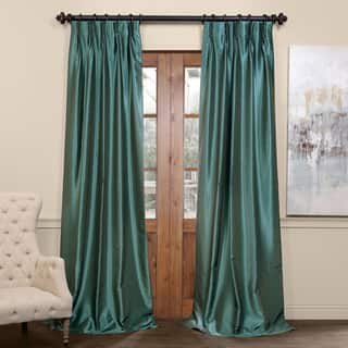Exclusive Fabrics Signature Pinch Pleated Blackout Solid Faux Silk Curtain Panel|https://ak1.ostkcdn.com/images/products/12269980/P19109387.jpg?impolicy=medium