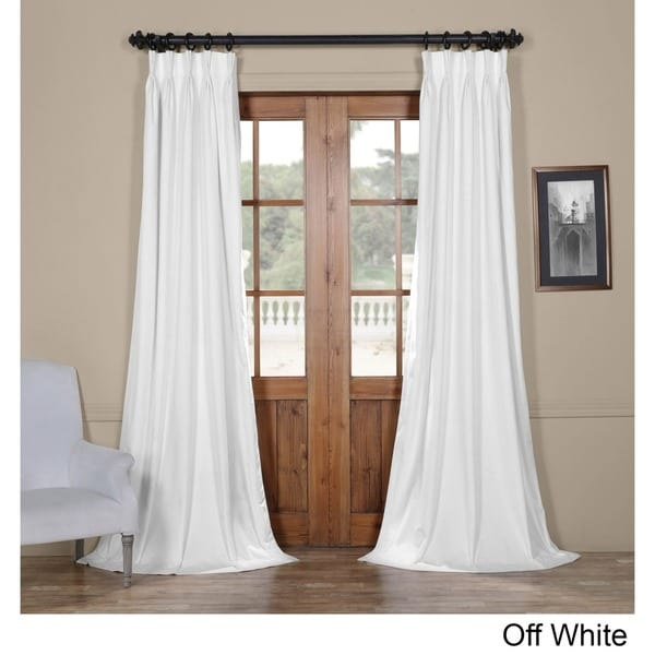 Exclusive Fabrics Signature Pinch Pleated Blackout Solid Velvet Curtain Panel Free Shipping