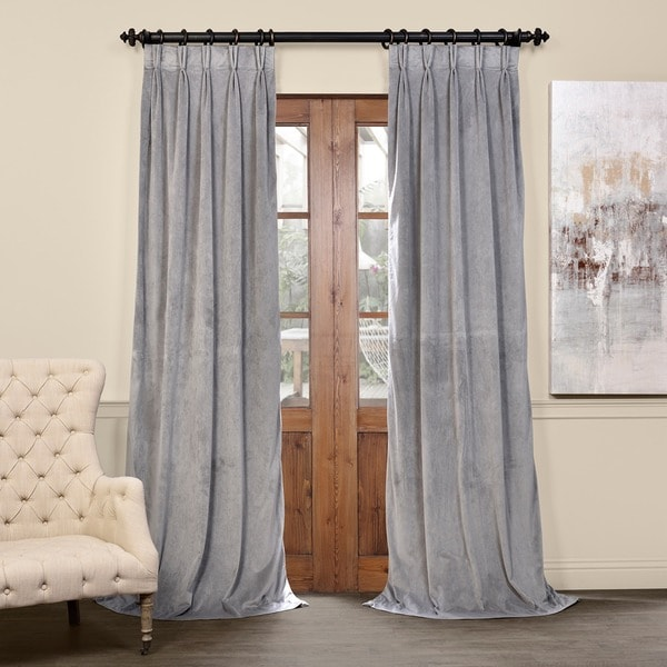 Curtains Ideas blackout pinch pleat curtains : Exclusive Fabrics Signature Pinch Pleated Blackout Solid Velvet ...