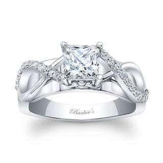 Barkev's Designer 14k White Gold 1ct TDW Princess-cut Engagement Ring (F-G, SI1-SI2)