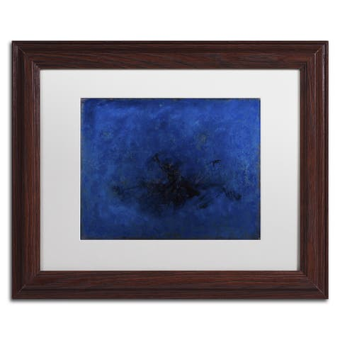 Joarez 'Deep Blue' Matted Framed Art