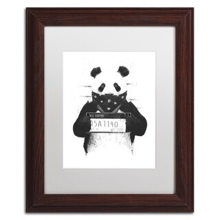 Balazs Solti 'Bad Panda' Matted Framed Art