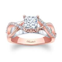 Barkev's Designer 14k Two-tone Gold 1ct TDW Princess-cut Diamond Engagement Ring