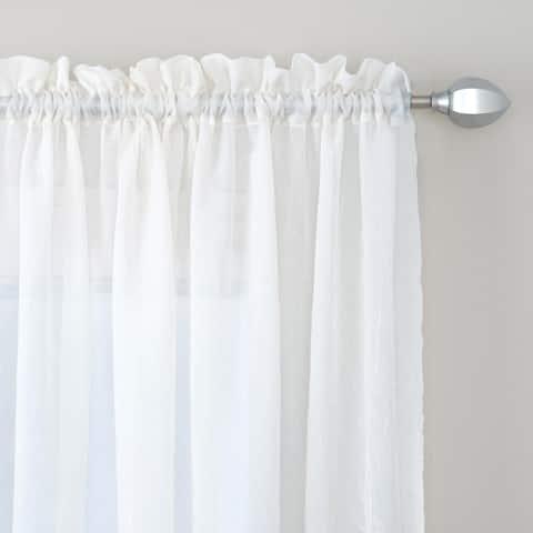 Miller Curtains Preston 63-inch Rod Pocket Sheer Curtain Panel - 52 x 63 - 52 x 63
