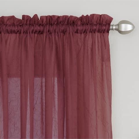 Miller Curtains Preston Sheer 108-Inch Rod Pocket Curtain Panel - 52 X 108 - 52 X 108