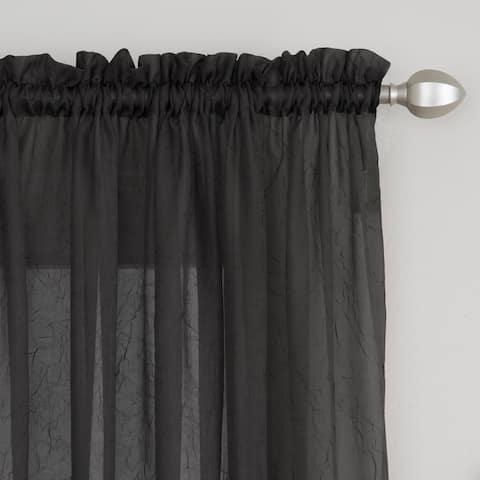 Miller Curtains Preston 84-Inch Rod Pocket Sheer Curtain Panel