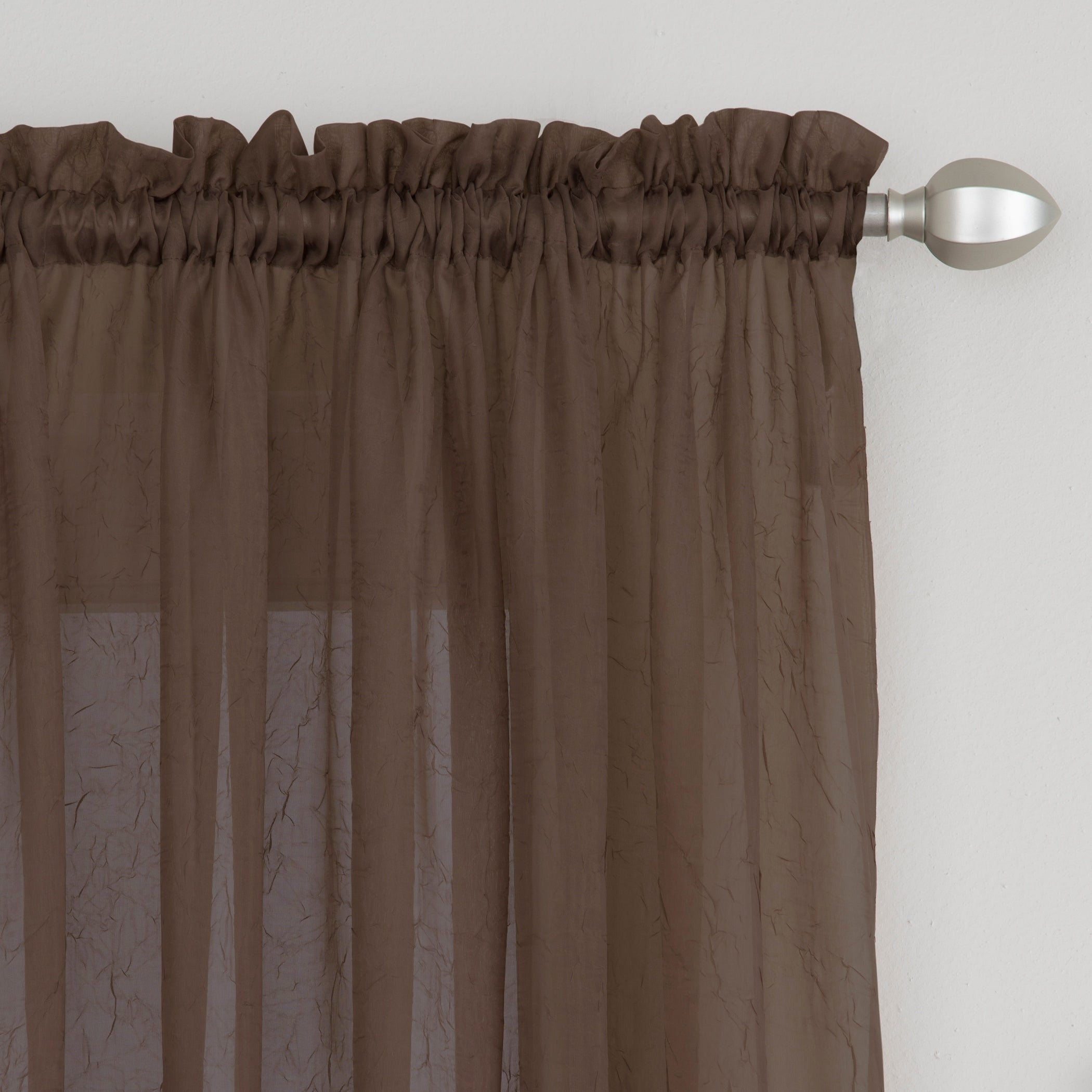 Miller Curtains Preston 84 Inch Rod Pocket Sheer Curtain Panel On Sale Overstock 12270107