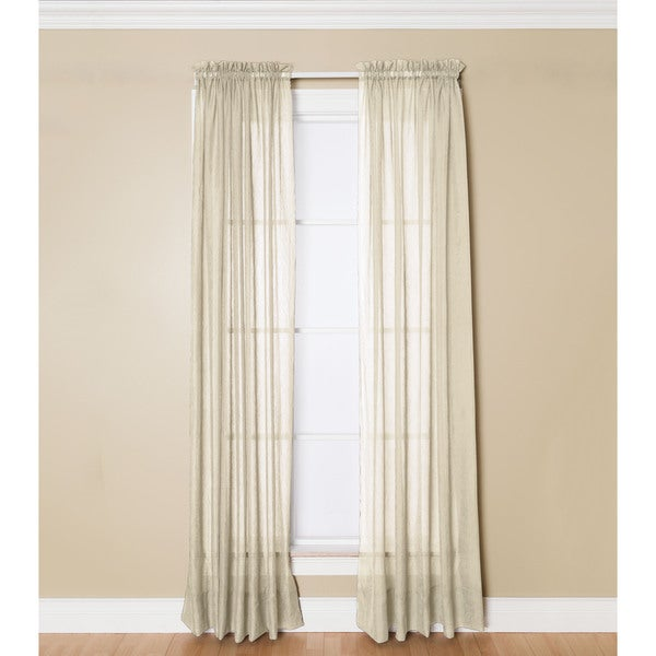 Miller Curtains Preston 84 Inch Rod Pocket Sheer Curtain Panel Free Shipping On Orders Over