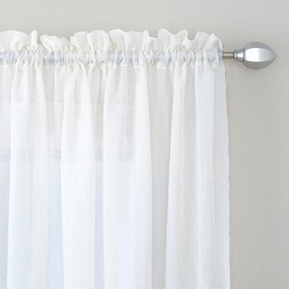 Miller Curtains Preston 84-Inch Rod Pocket Sheer Curtain Panel