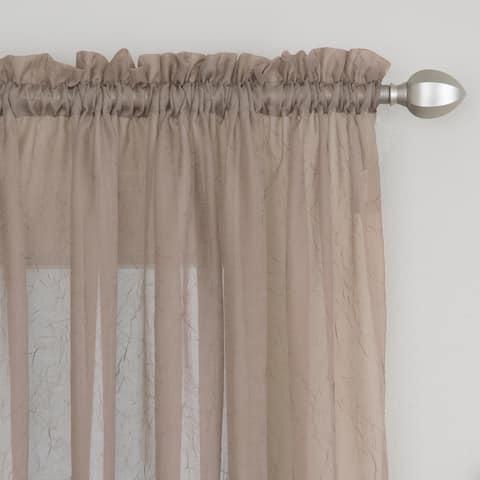 Miller Curtains Preston 95-inch Rod Pocket Sheer Curtain Panel