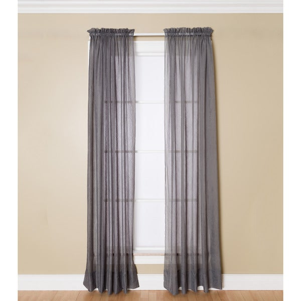 Miller Curtains Preston 95 Inch Rod Pocket Sheer Curtain Panel