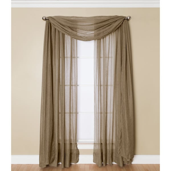 Miller Curtains Preston 216-inch Sheer Window Scarf. Opens flyout.