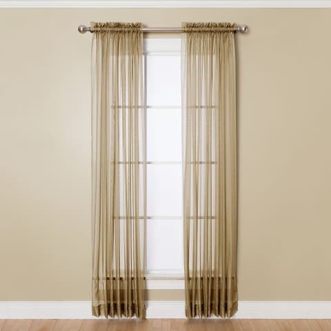 Miller Curtains Angelica Sheer 95-inch Rod Pocket Curtain Panel