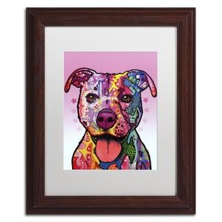 Dean Russo 'Cherish The Pitbull' Matted Framed Art