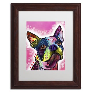 Dean Russo 'Boston Terrier' Matted Framed Art