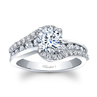 Barkev's Designer 14k White Gold 1 1/2ct TDW Round-cut Diamond Engagement Ring (F-G, SI1-SI2)