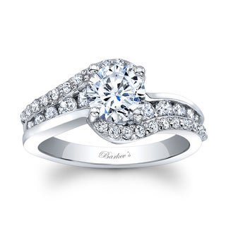 Barkev's Designer 14k White Gold 1 1/2ct TDW Round-cut Diamond Engagement Ring