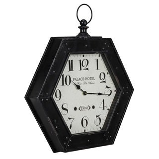 Cooper Classics Flintsch Black Wall Clock