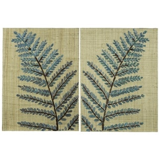 Beall Multicolored Rattan Wall Hanging (Set of 2)