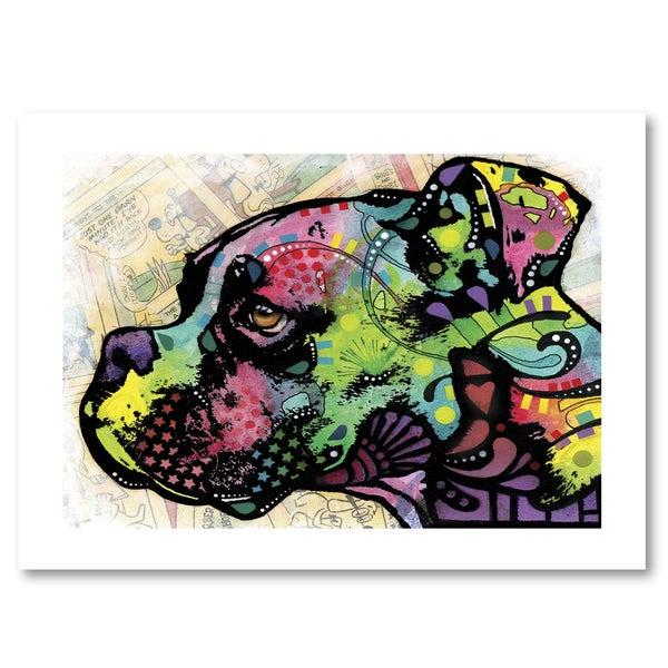 Dean Russo 'Profile Boxer Deco' Paper Art