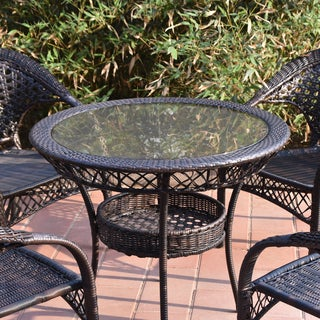 Adeco Wicker Dining Table