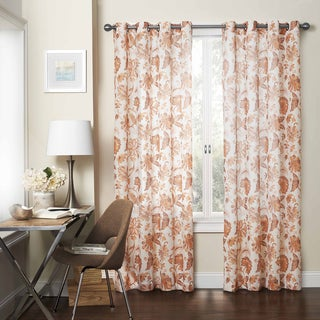 Eclipse Wythe Floral Light-filtering Sheer Curtain Panel