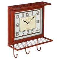 Bradley Vintage Metal Wall Hanger Clock