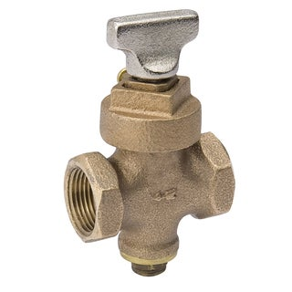B And K Industries 105-903NL Mueller Stop and Drain Valve