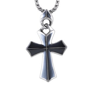 Stephen Webster Men's 3005210 Sterling Silver Hematite Cross Pendant Necklace