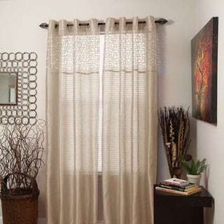 Windsor Home Monica Grommet 84-Inch Curtain Panel