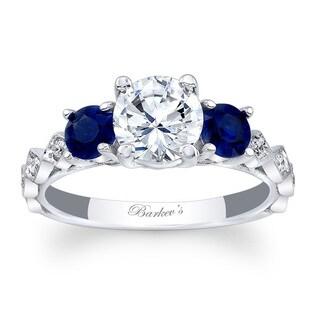 Barkev's Designer 14k White Gold 1 1/5ct TDW Diamond Modern Style Engagement Ring (F-G, SI1-SI2)