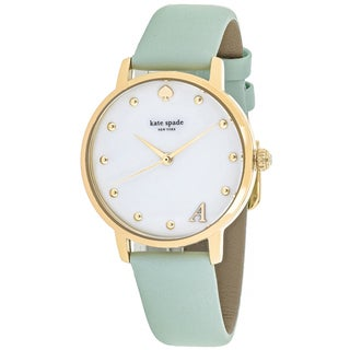 Kate Spade Women's KSW1100A Metro Round White Mother of Pearl Dial Leather strap Watch