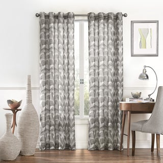 Eclipse Amadora Ikat Light Filtering Sheer Curtain Panel