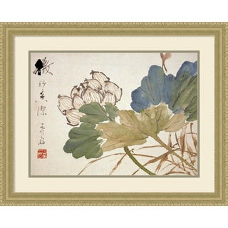 Framed Art Print 'Lotus' by Xu Gu 30 x 24-inch