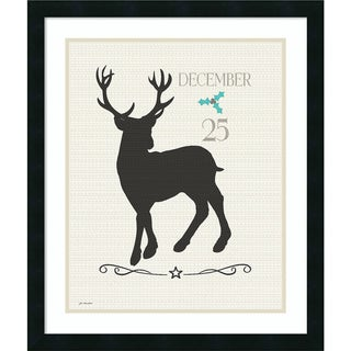 Framed Art Print 'Dec. 25 (Christmas)' by Jo Moulton 22 x 26-inch