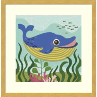 Framed Art Print 'Walter (Whale)' by Jenn Ski 17 x 17-inch
