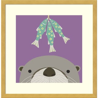 Framed Art Print 'Peek-A-Boo Otter' by Yuko Lau 17 x 17-inch