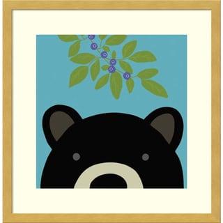 Framed Art Print 'Peek-A-Boo Bear' by Yuko Lau 17 x 17-inch