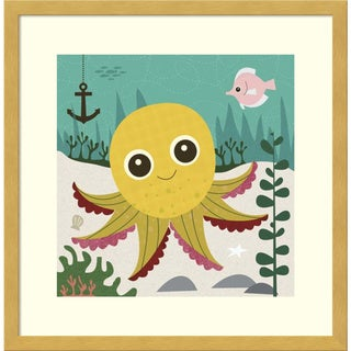 Framed Art Print 'Olga (Octopus)' by Jenn Ski 17 x 17-inch