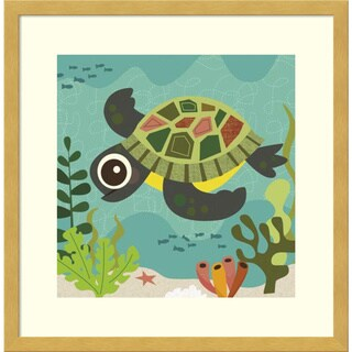 Framed Art Print 'Terrance (Turtle)' by Jenn Ski 17 x 17-inch