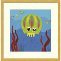 Framed Art Print 'Jenny (Jellyfish)' by Jenn Ski 17 x 17-inch