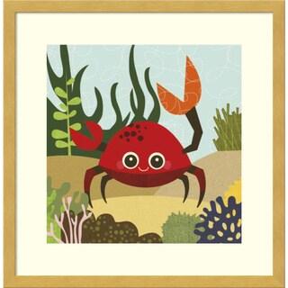 Framed Art Print 'Carla (Crab)' by Jenn Ski 17 x 17-inch
